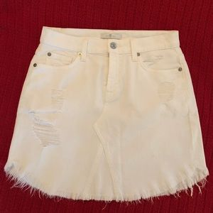 7 For All Mankind Mini Skirt - white